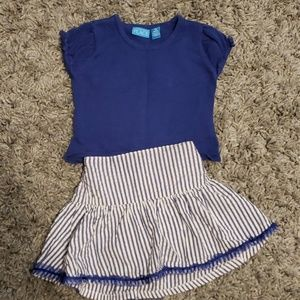 18 month Childrens Place skirt and top.